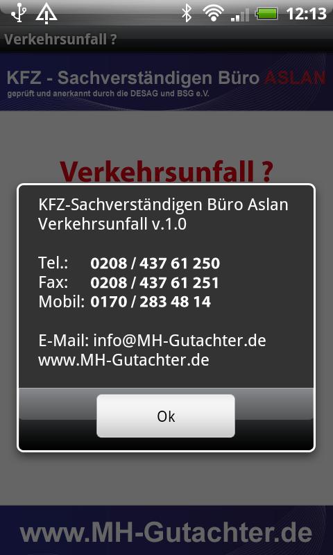 Mobile app of Automotive Expert, Appraiser Fatih Aslan from Mülheim ...